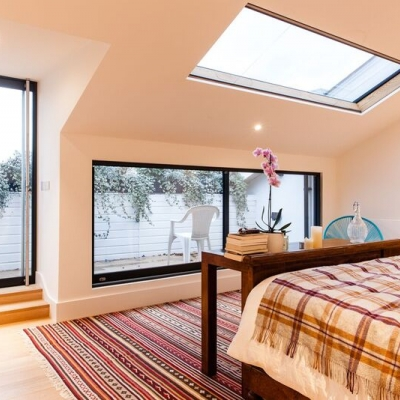 Bespoke Lumen Rooflights help transform modest traditional London apartment into a luxurious modernist home