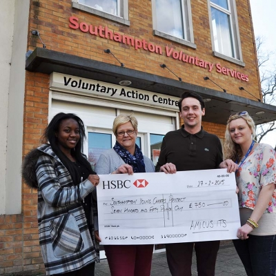 Amicus ITS Donate £750 to Southampton Young Carers Project for new hub