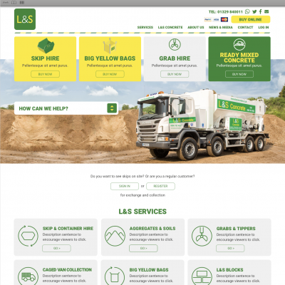 New look website for L&S Waste